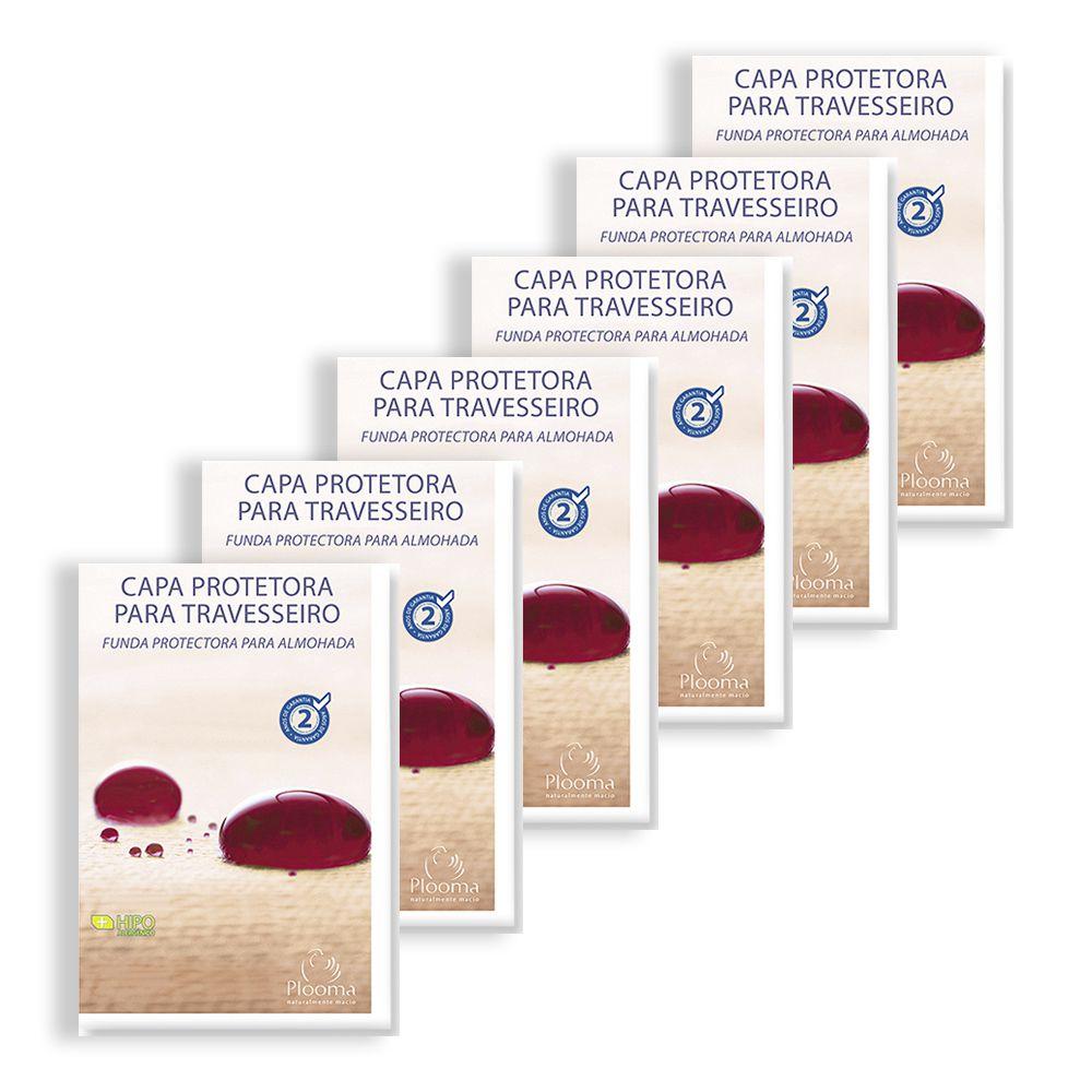 Kit 6 Capas Protetoras de Travesseiro Soft - Plooma