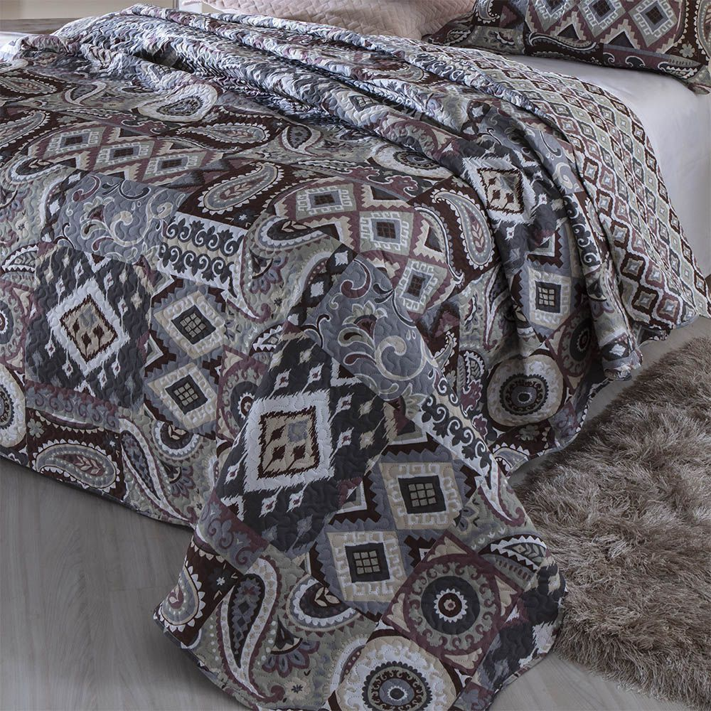 Kit Colcha Patchwork Queen Vicenza