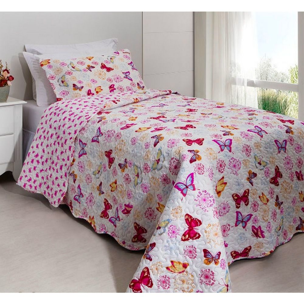 Kit Colcha Patchwork Teen Rozac Butterfly