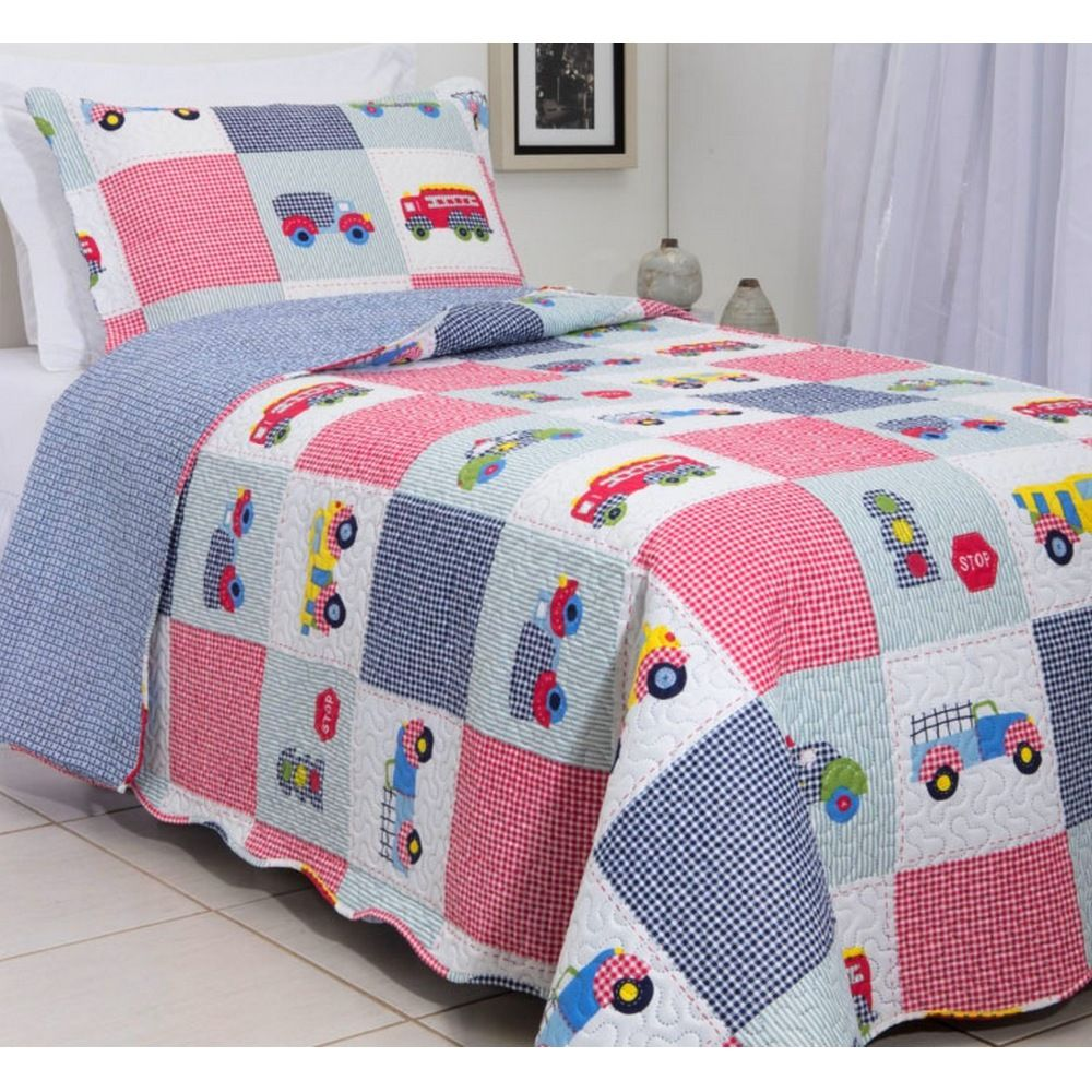 Kit Colcha Patchwork Teen Rozac Carros
