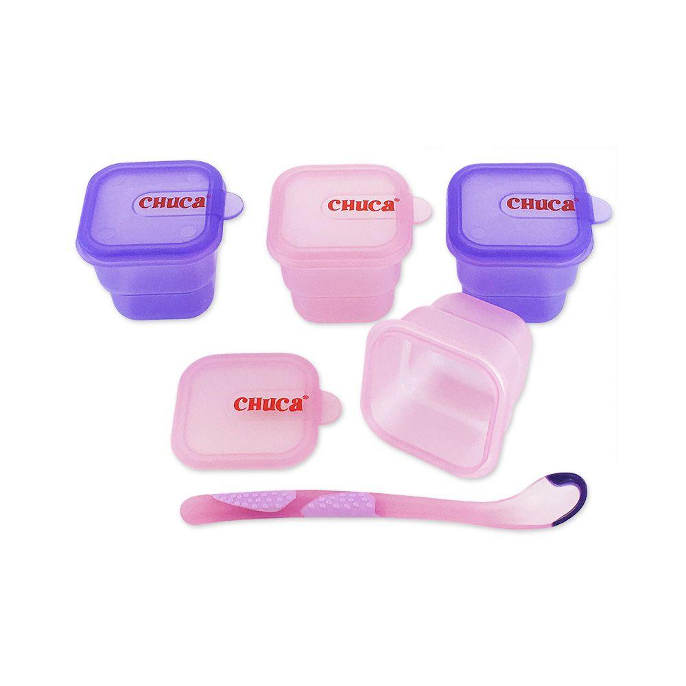 Kit de Alimentação para Viagem Chuca Baby  Rosa - 4 Peças