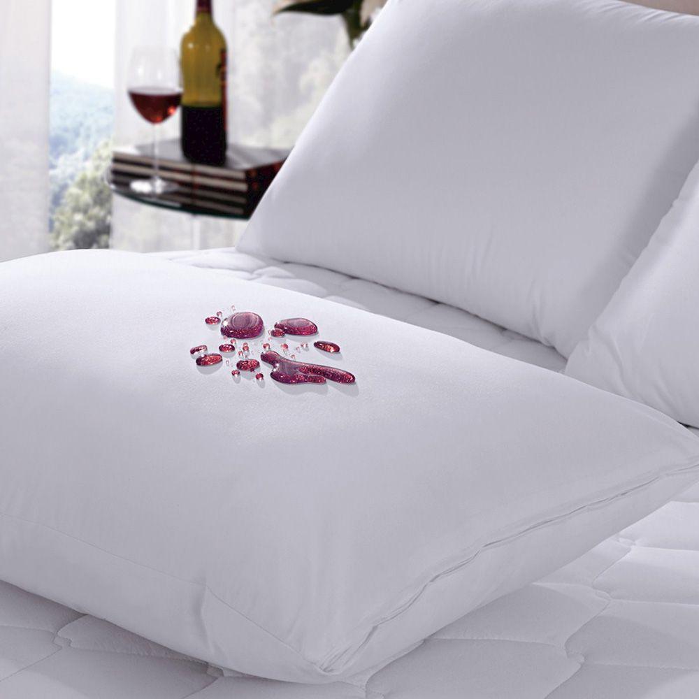 Kit Nasa Viva Conforto - 4 Travesseiros Altura 10cm + 4 Capas Protetoras