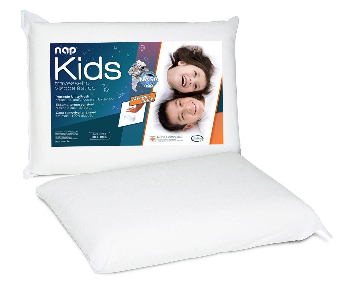 Kit Travesseiro Nasa Nap Baby RN + Nap Kids Viscoelástico