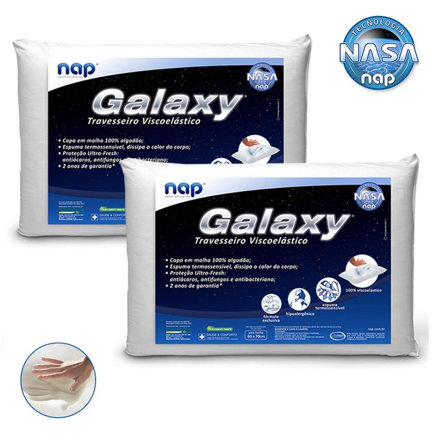 Kit Travesseiros Nasa Nap Galaxy 2 Peças
