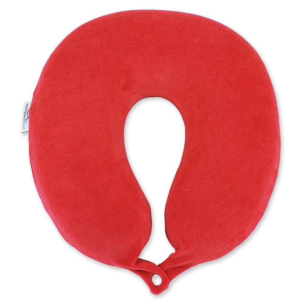 Kit Viagem Viva Conforto - Travesseiro Vermelho + Máscara de Dormir 3D