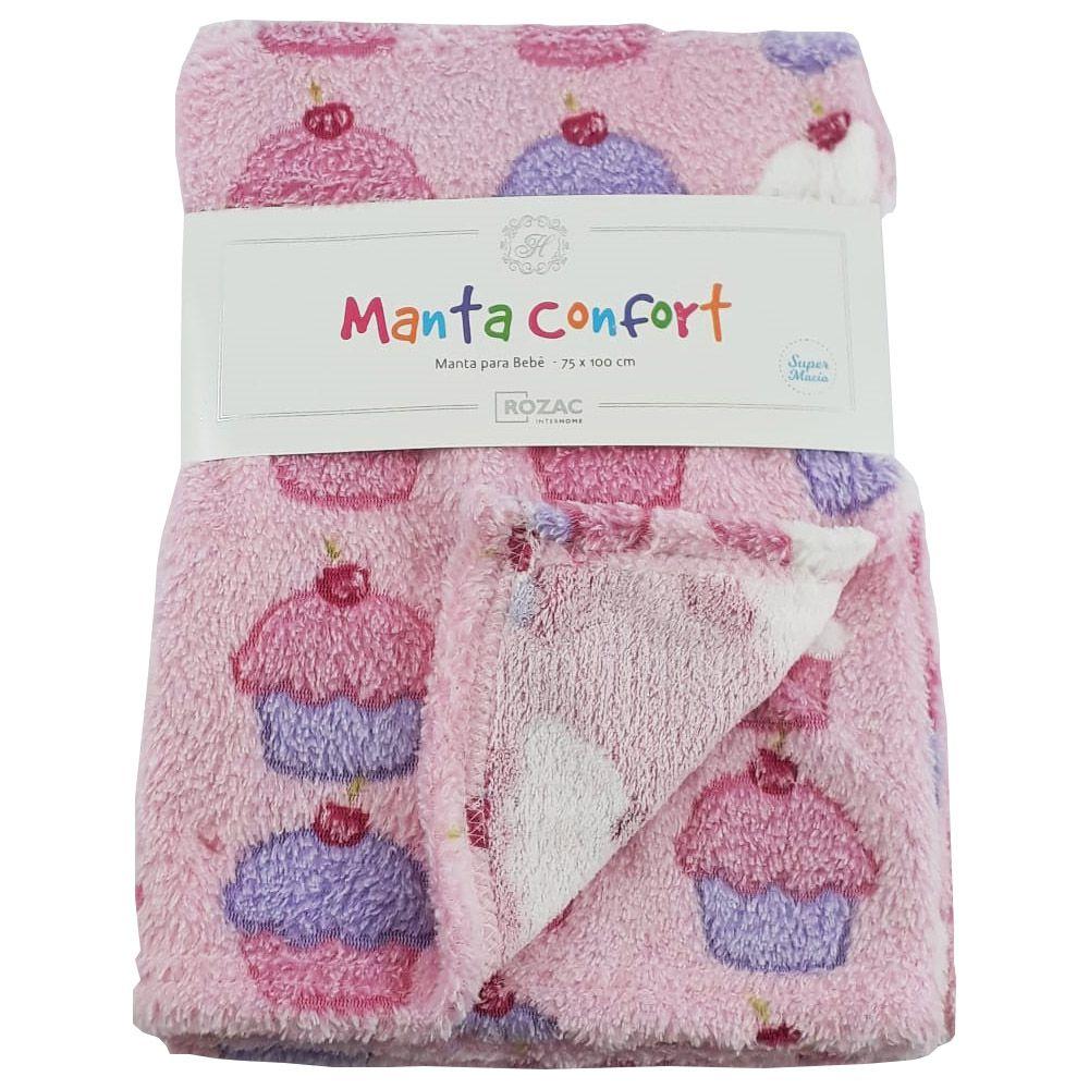 Manta Baby Confort Cupcakes 75x100cm Rozac