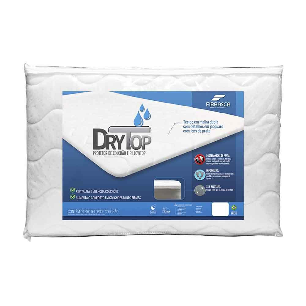 Pillow Top Queen com Protetor de Colchão Drytop Fibrasca