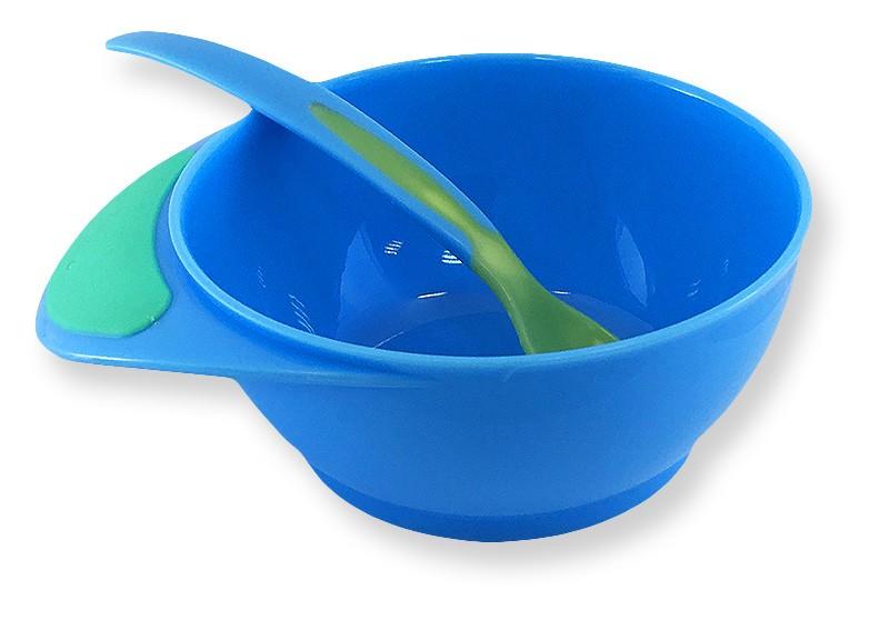 Prato Infantil com Colher Indicadora de Temperatura Chuca Baby - Azul