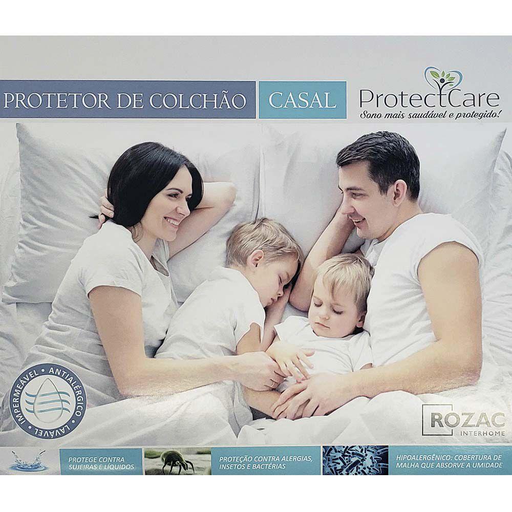 Protetor de Colchão Casal Impermeável Protect Care Rozac