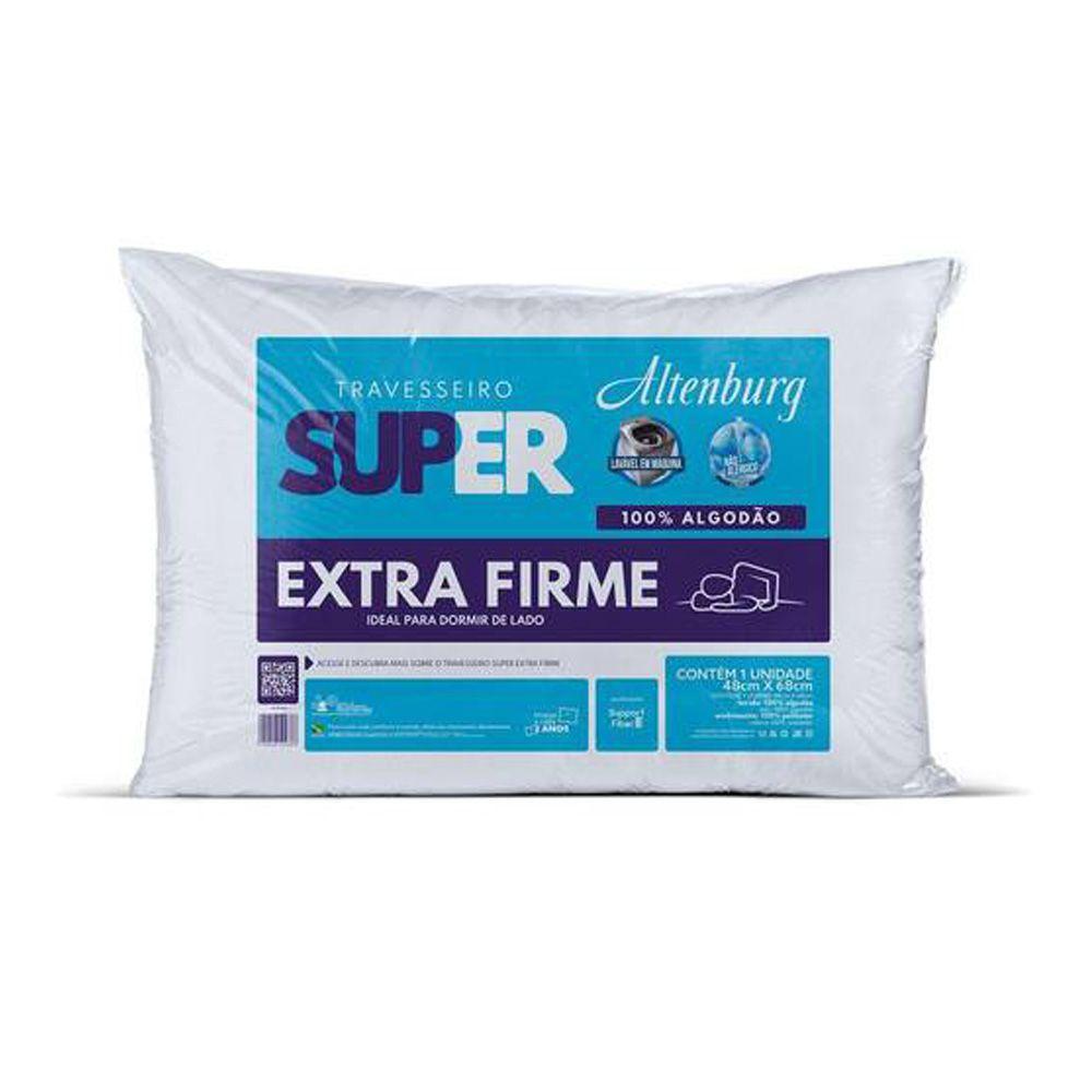 Travesseiro Altenburg Super Extra Firme 100% Algodão - Branco
