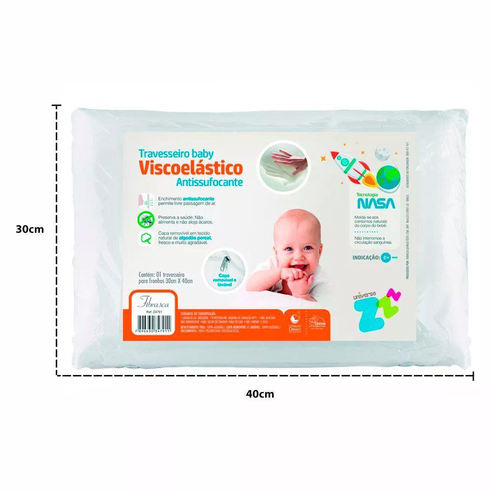 Travesseiro Baby Antissufocante Capa Removível