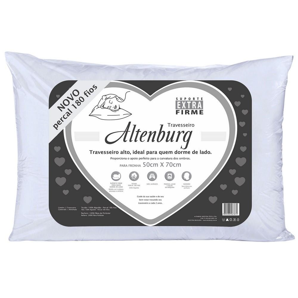 Travesseiro Extra Firme 180 Fios 50x70cm Altenburg