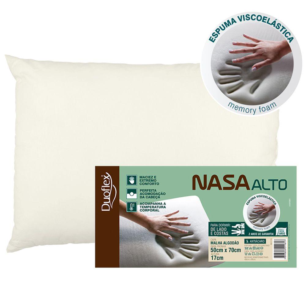 Travesseiro NASA Alto Viscoelástico Duoflex 17cm