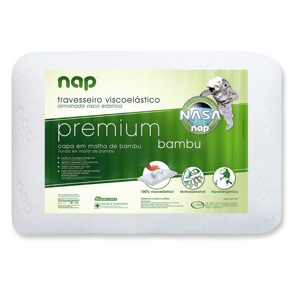 Travesseiro Nasa - Nap Premium Bambu - Altura 15 cm