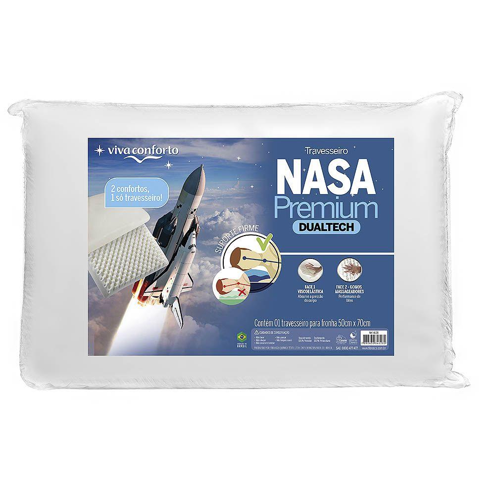 Travesseiro Nasa Premium Dual Tech Viva Conforto