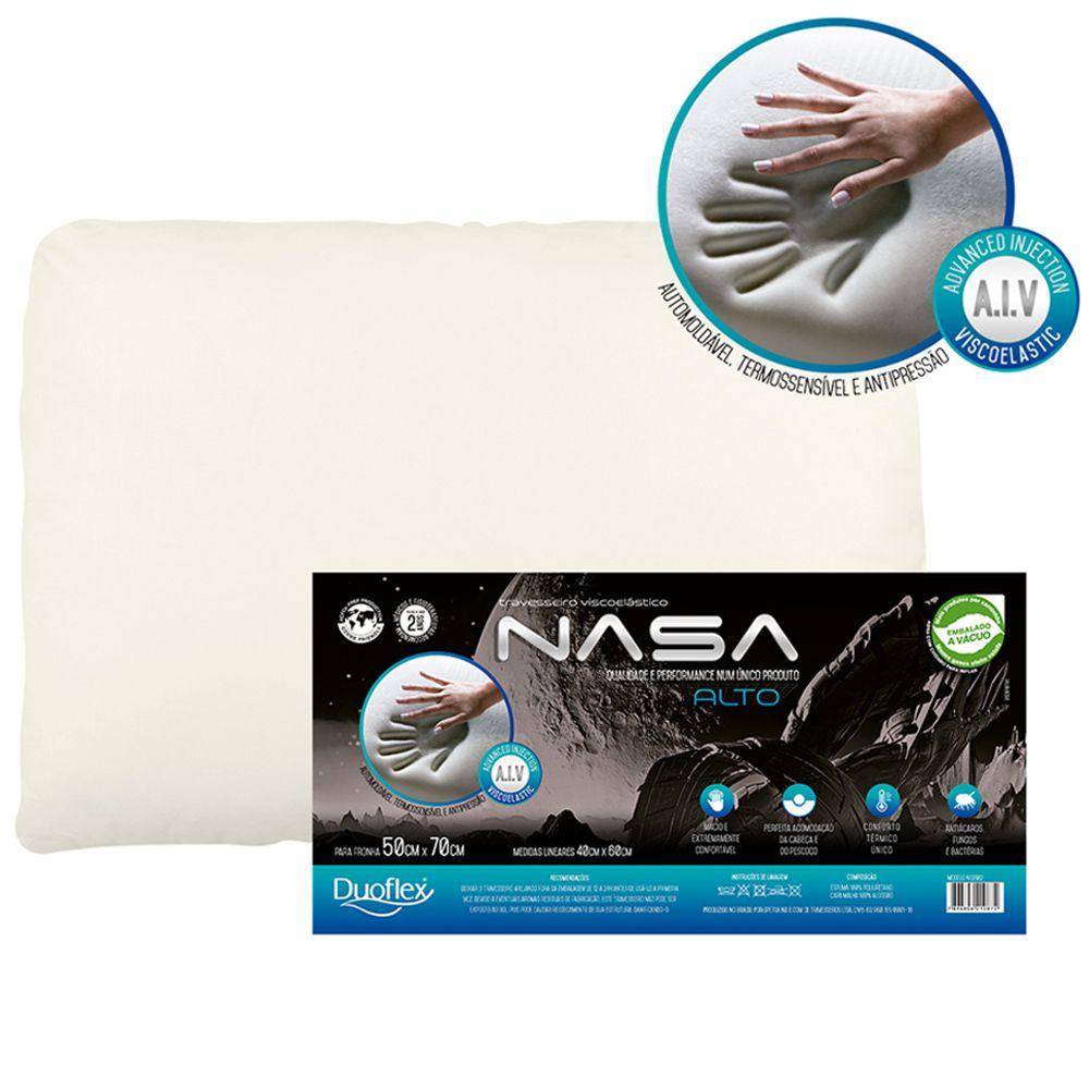 Travesseiro NASA-X Alto Viscoelástico Duoflex