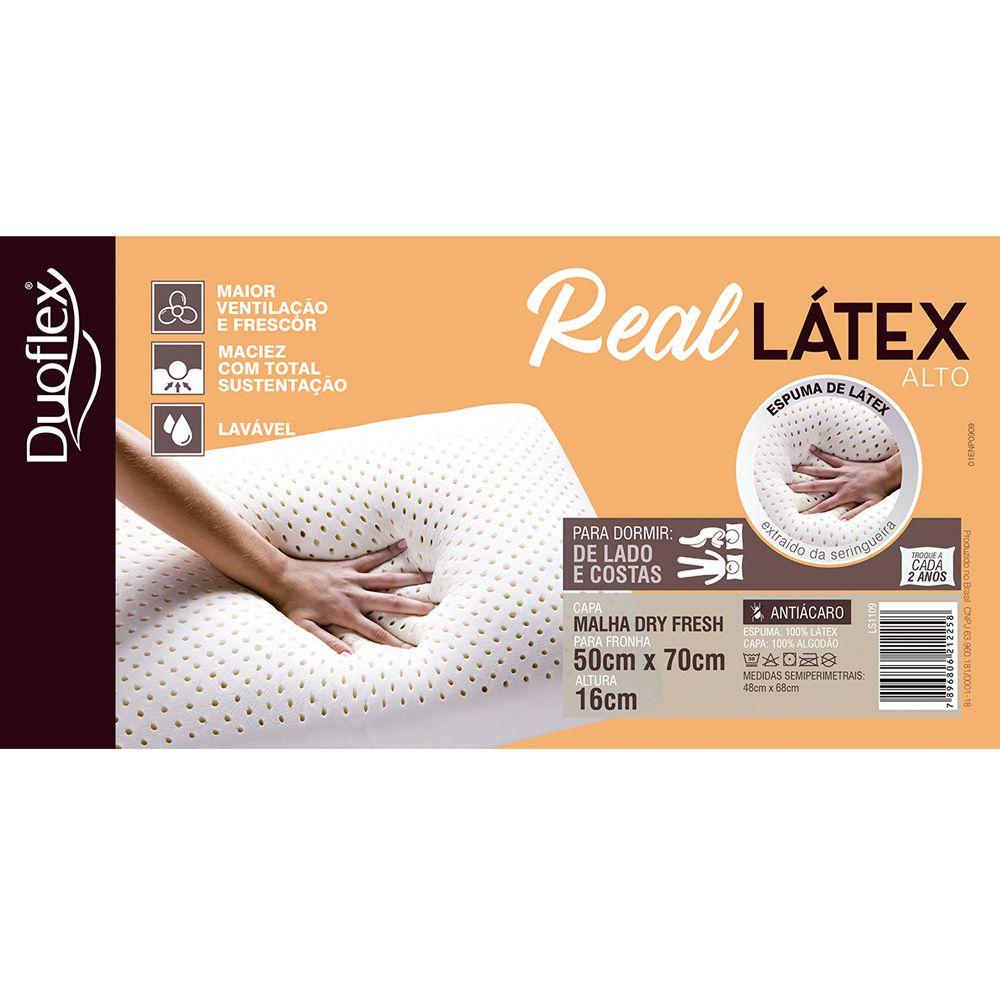 Travesseiro Real Látex Duoflex Alto