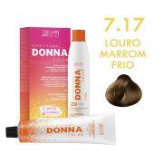 Donna Color Kit Coloração 7.17 Louro Marrom Frio