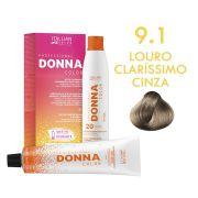 Donna Color Kit Coloração 9.1 Louro Claríssimo Cinza
