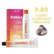 Coloração Donna Color 9.89 Louro Claríssimo Perolado