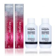 Kit 7.4 Loreal Majirel 50g e Água Oxigenada 20vol 75ml