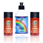 Kit Kamaleão Duo Cor Flamingo 150ml + Diluidor Arco Íris 300ml