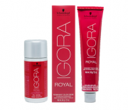 Kit Schwarzkopf Igora Royal HD 7.77 60g e Água Oxigenada Igora Royal 30vol 60ml
