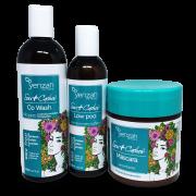 Kit Yenzah Sou  Cachos - Shampoo, Condicionador e Mascara