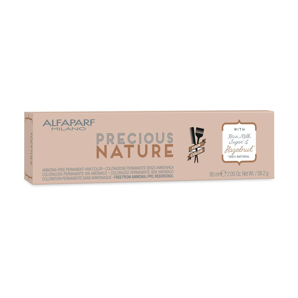 Alfaparf Milano Precious Nature Hair Color Creme de Coloração 1.11 Preto Azul 60ml