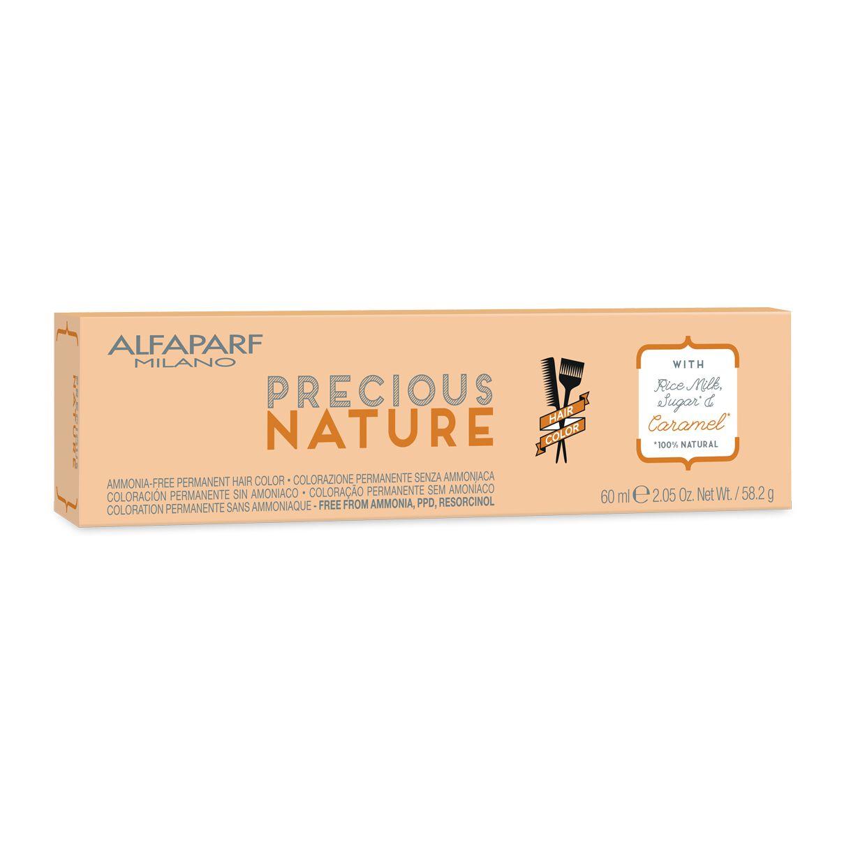 Alfaparf Milano-Precious Nature Hair Color Creme de Coloração 6.35 Louro Escuro Dourado Acajú 60ml