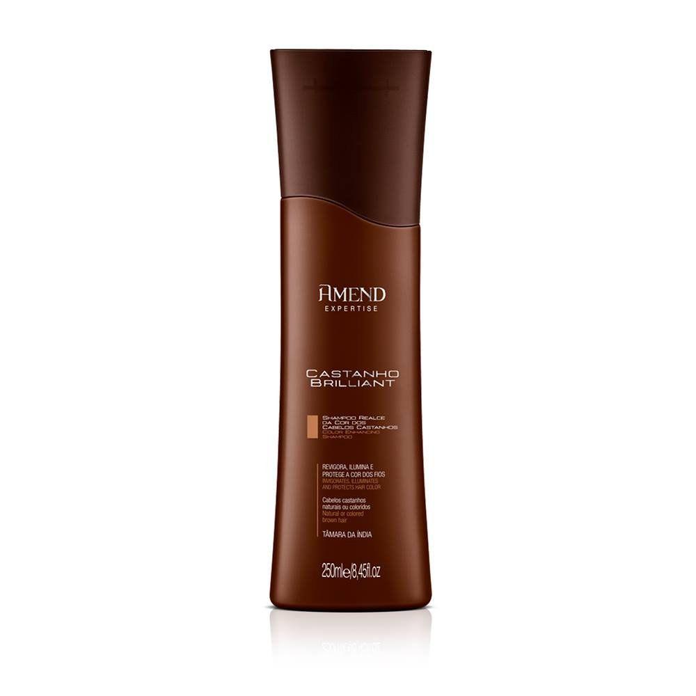 Shampoo Realce da Cor Castanho Brilliant - 250ml - Amend