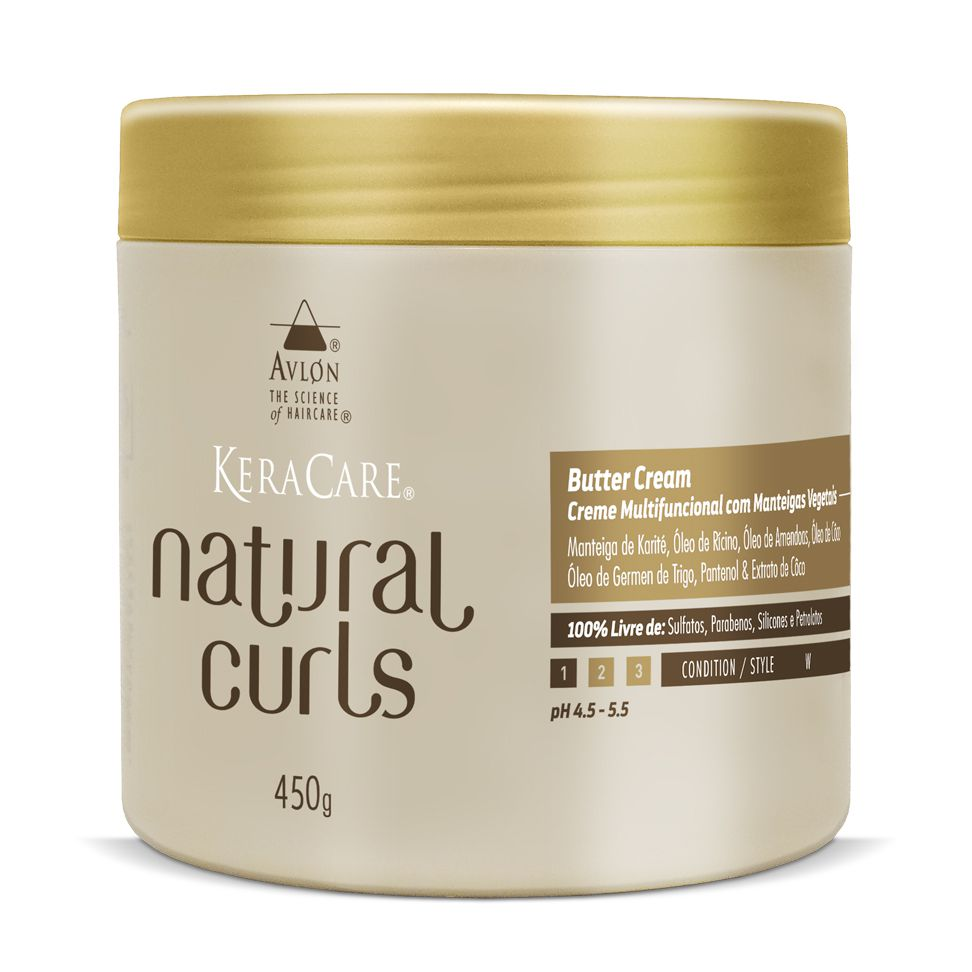 Avlon KeraCare Natural Curls Butter Cream Creme Multifuncional com Manteiga Vegetal 450g