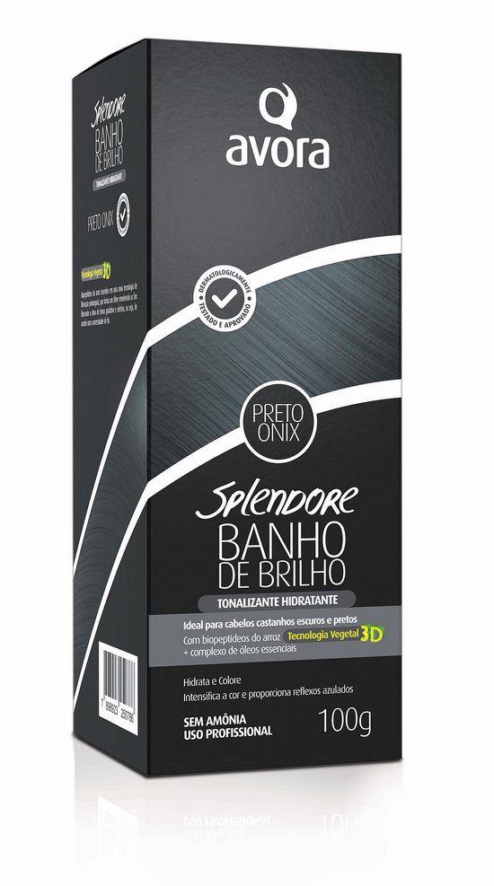 Avora Splendore Banho de Brilho Condicionante Preto Onix - 100g