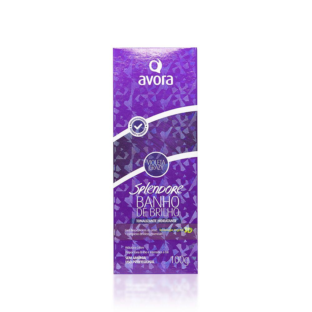 Avora Splendore Banho de Brilho Condicionante Violeta Crazy - 100g