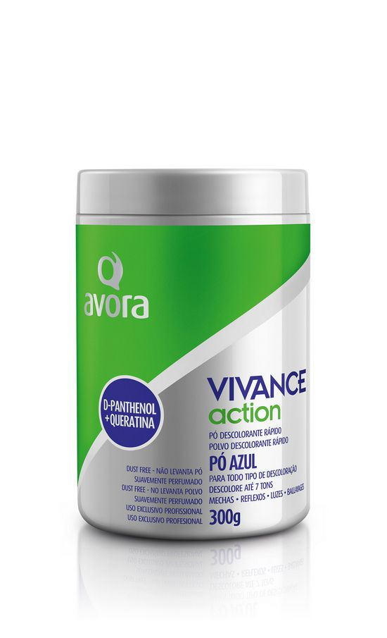 Avora Vivance Action Pó Descolorante Dpantenol e Queratina Dust Free 300g