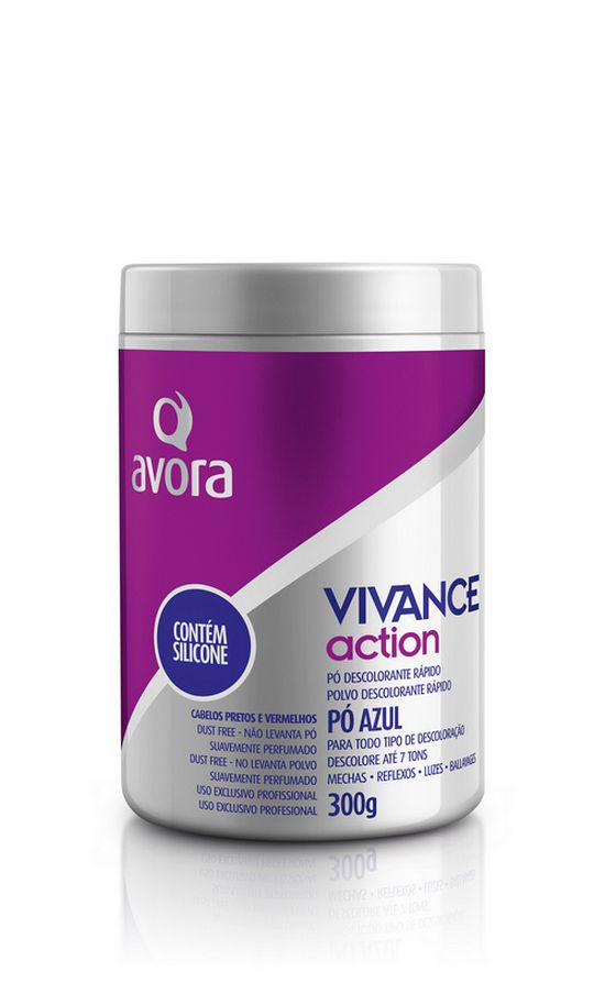 Avora Vivance Action Pó Descolorante Silicone Dust Free 300g
