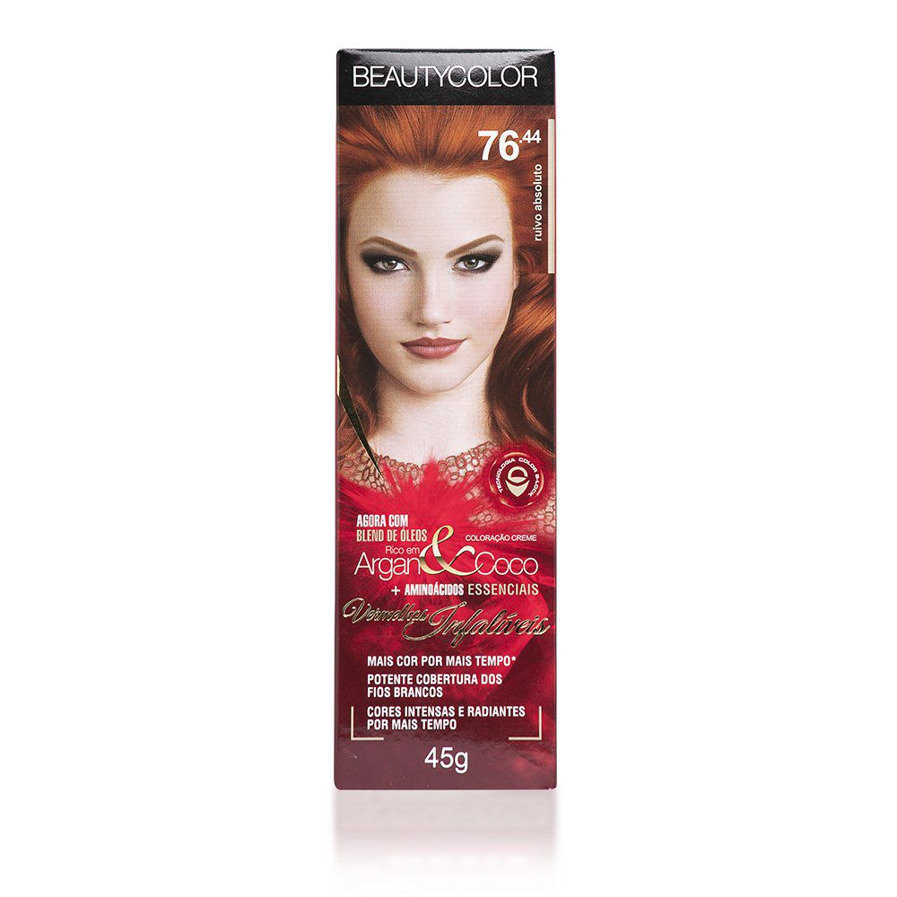 Beauty Color Coloração Creme 76.44 - Ruivo Absoluto 45g