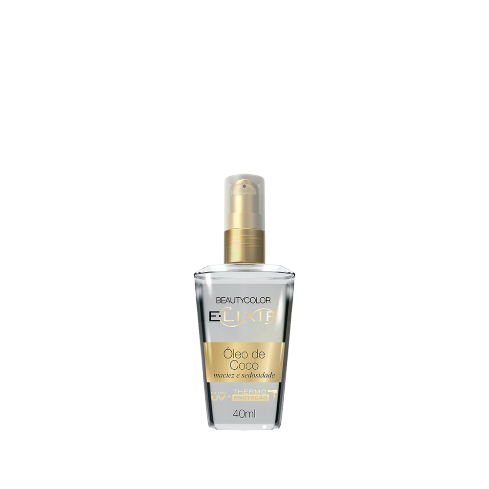 Beauty Color Elixir Óleo de Coco Maciez e Sedosidade Filtro UV Themo Proteção - 40ml