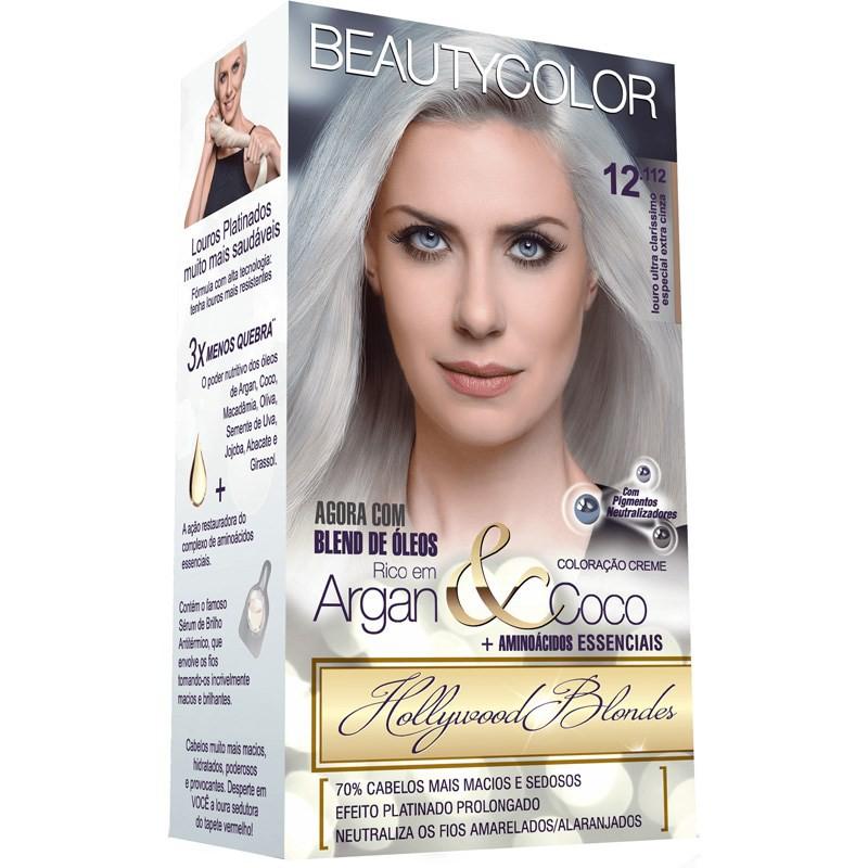 Beauty Color Kit Coloração 12.112 - Louro Ultra Claríssimo Especial Extra Cinza