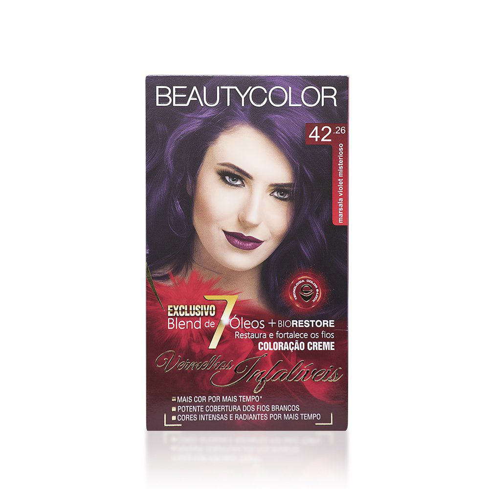 Beauty Color Kit Coloração 42.26 Marsala Violet Misterioso