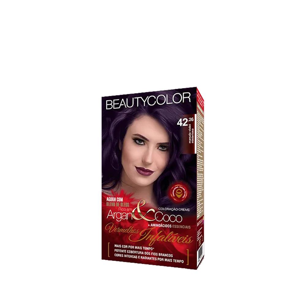 Beauty Color Kit Coloração 42.26 Marsala Violet Misterioso