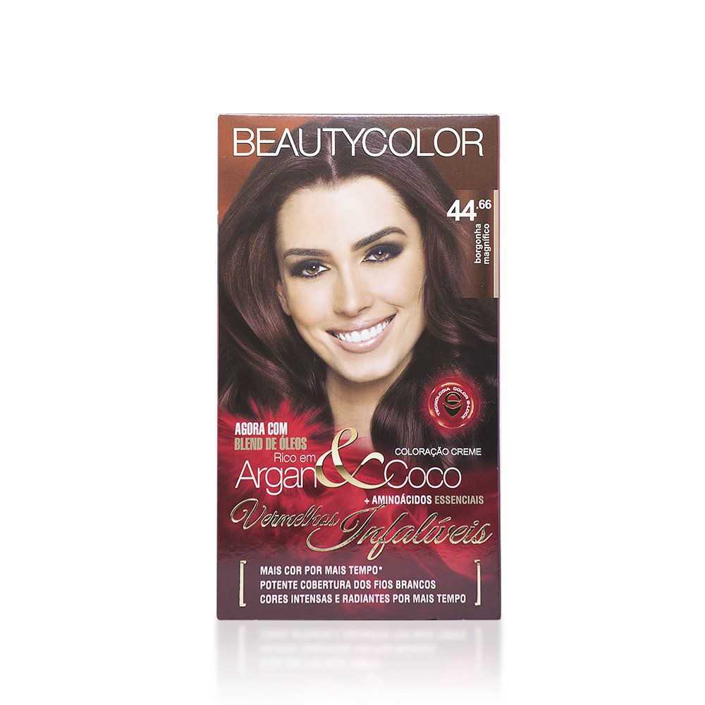 Beauty Color Kit Coloracao 44.66 - Borgonha Magnífico