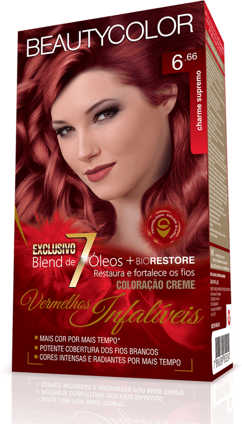 Beauty Color Kit Coloração 6.66 - Charme Supremo