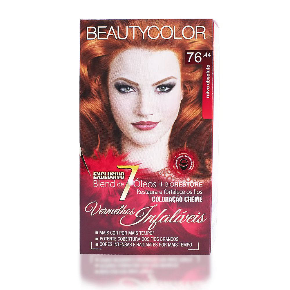 Kit Coloração Beauty Color 76.44 - Ruivo Absoluto