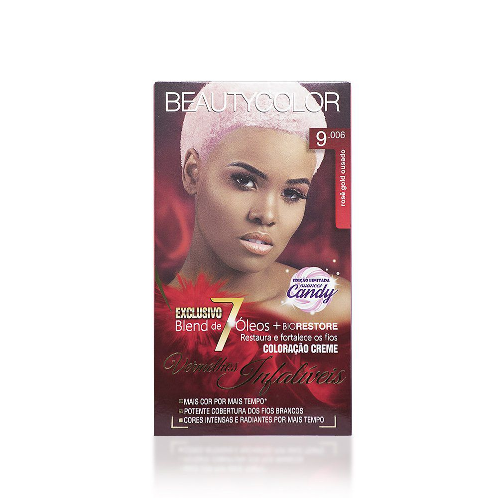 Beauty Color Kit Coloração 9.006 Rosê Gold Ousado