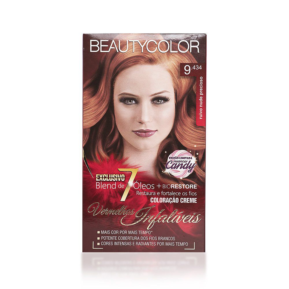 Beauty Color Kit Coloração 9.434 - Ruivo Nude Precioso