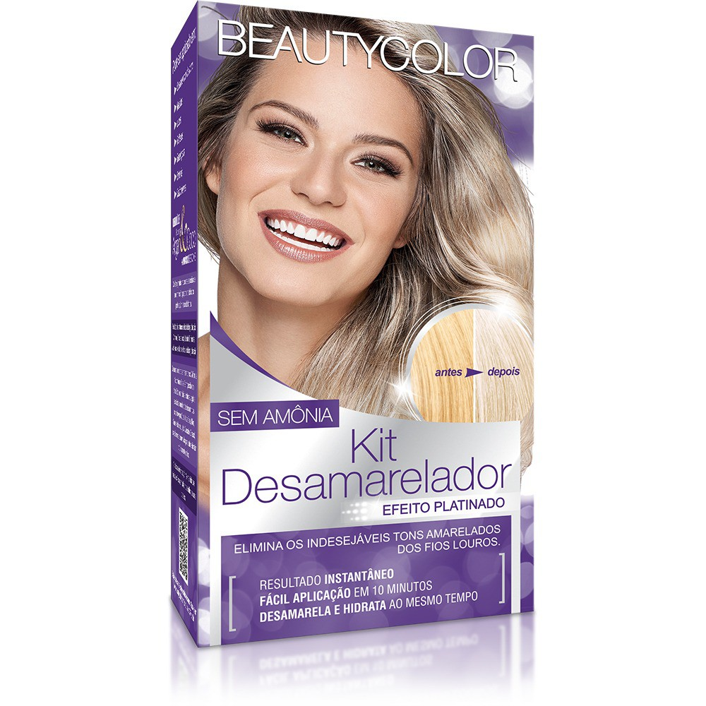 Beauty Color Kit Desamarelador Efeito Platinado - Sem Amônia