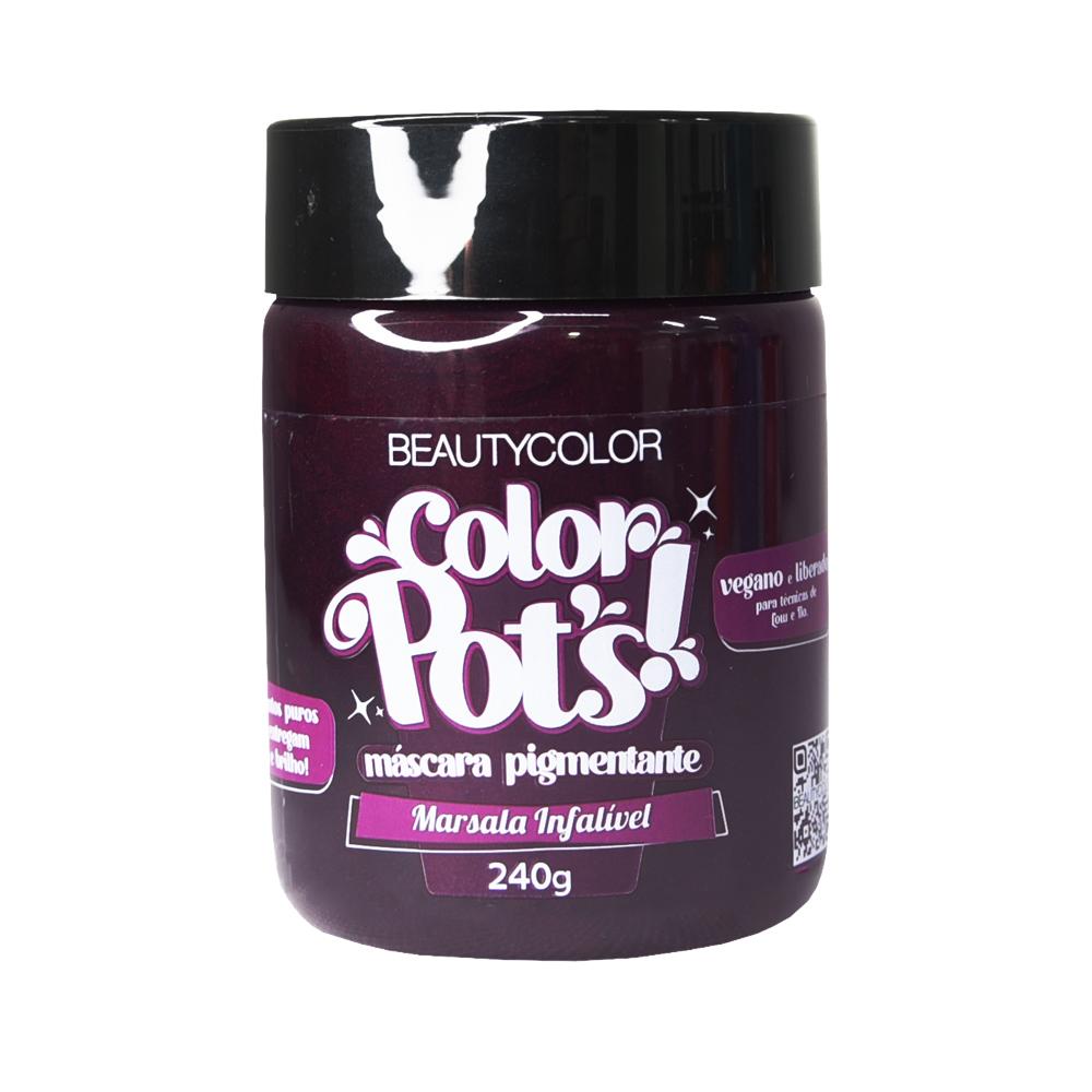 Beauty Color Máscara Pigmentante Color Pots Marsala Infalível 240g