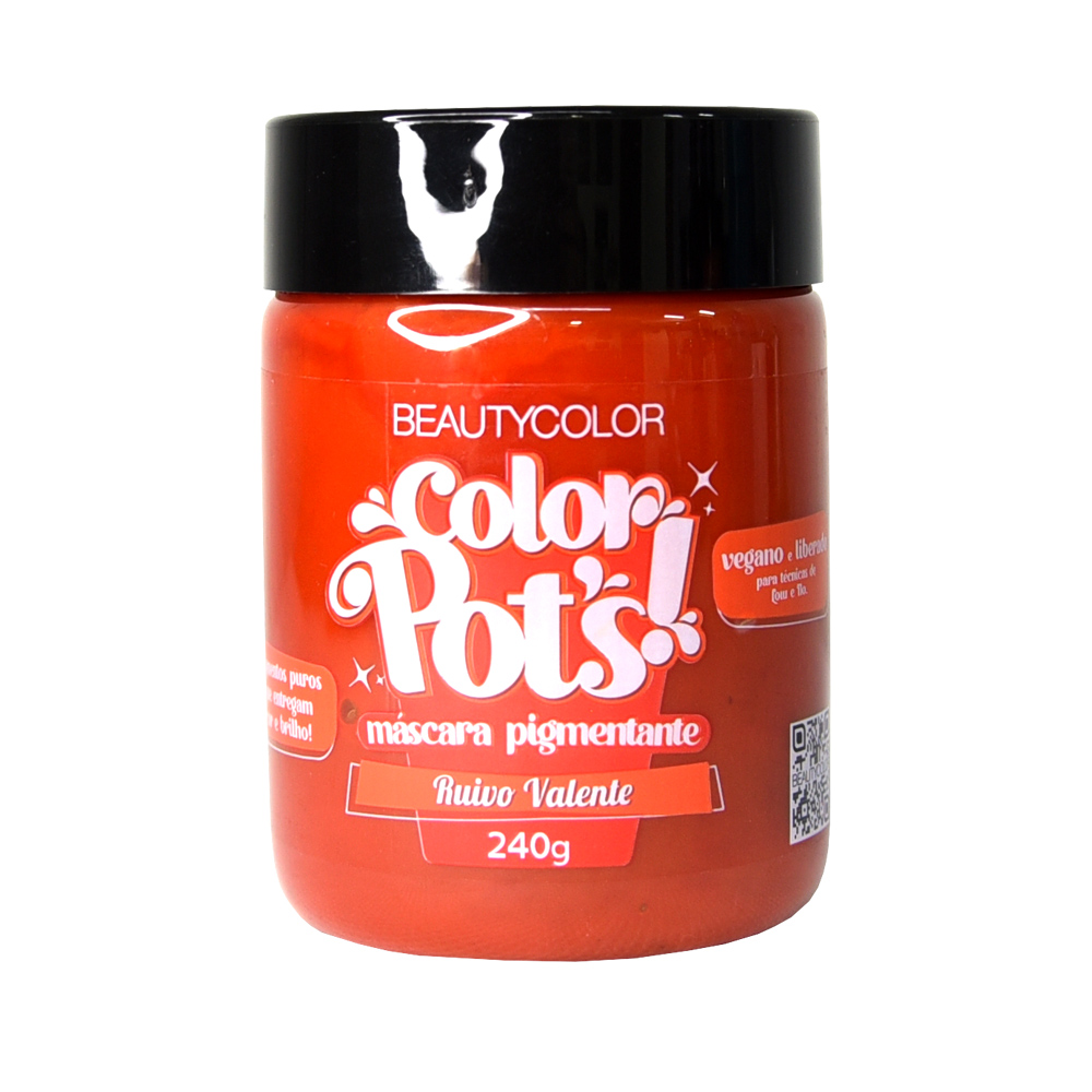 Beauty Color Máscara Pigmentante Color Pots Ruivo Valente 250G