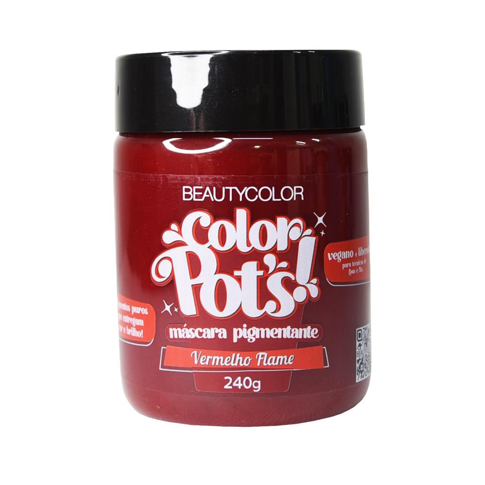 Beauty Color Máscara Pigmentante Color Pots Vermelho Flame 240G